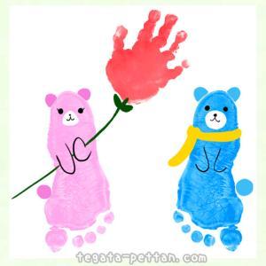 手形アートのクマのデザイン案を紹介!ダッフィー等キャラクターも!