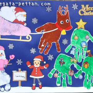 手形アートのクリスマスのデザイン例を紹介します