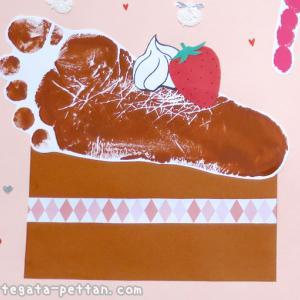 手形アートのチョコケーキ・カップケーキなどのデザイン紹介