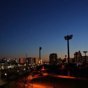 春の夕焼け