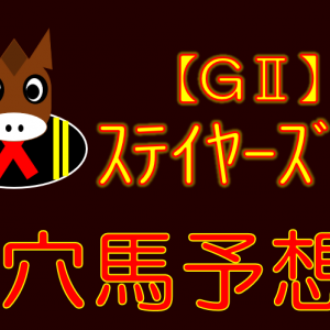 【GⅡ】ステイヤーズS 穴馬特化予想 展望