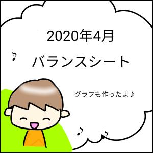 2020年4月 バランスシート