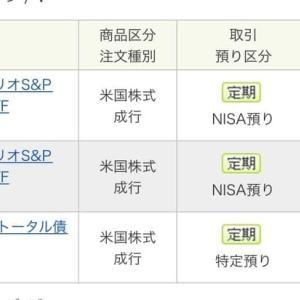7月1週間の海外ETF定期買付