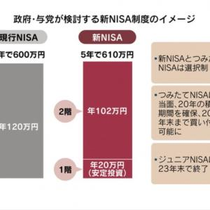 【投資】一般NISAが変わる?新NISAとは