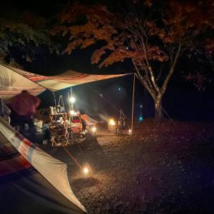 紅葉キャンプで鮎と天ぷらやってみた!②