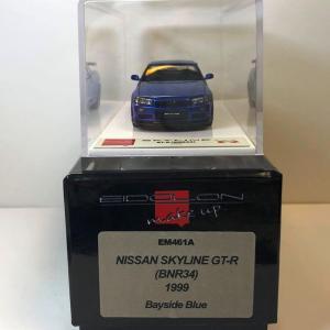1/43 メイクアップ アイドロン 日産スカイラインGT-R 1999(BNR34) ベイサイドブルー