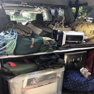 ランクルプラドにキャンプの道具はどのぐらい載るのか