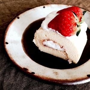 イチゴのロールケーキ。