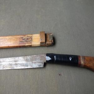 剣鉈の鞘を廃物で作る