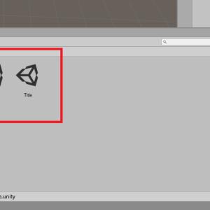 【Unity勉強】シーンとオブジェクトを作ってみる。