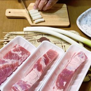 魚焼きグリルで簡単にボリューム満点の豚ネギマ作り