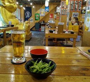 満マルの新メニュー ③焼き肉サラダ、手羽揚