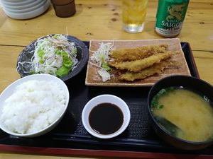 【魚定食】 ⑪田中亭 ししゃもフライ定食