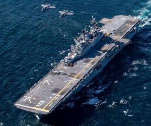 ☆強襲揚陸艦USSアメリカ/LHA 6と空自F-35Aとの共同訓練