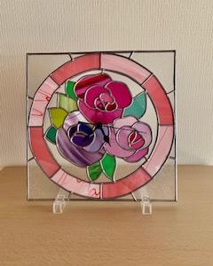 グラスアートの時計