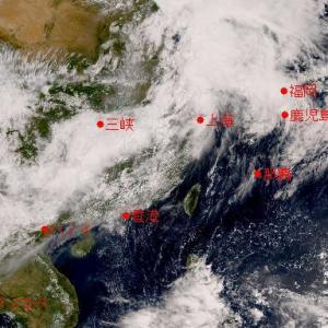 気象衛星ひまわり 東アジアの線状降水帯 その2