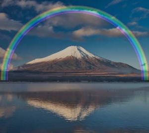 OpenCVで風景写真に虹を合成してみる