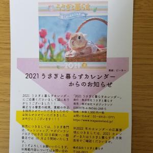 うさぎと暮らすカレンダー 2021年に採用