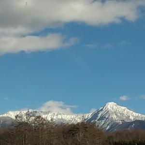 綺麗だなぁ八ヶ岳。