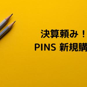 決算頼み! PINS 新規購入