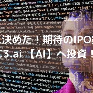 君に決めた!期待のIPO銘柄 C3.ai 【AI】へ投資!