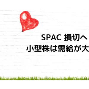 SPAC 損切へ 小型株は需給が大事?