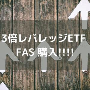 3倍レバレッジETF FAS 購入!!!!