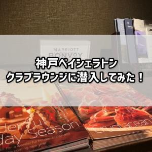 【宿泊記】神戸ベイシェラトンブログレビュー!クラブラウンジ(カクテルタイム)を体験してきました!