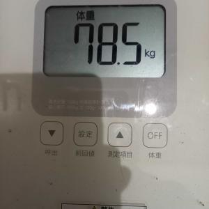 9月1日 体重と歩数記録