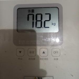 9月4日 体重と歩数記録
