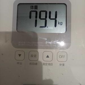 9月5日 体重の記録