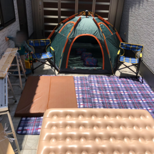 庭キャンプから夏バージョンへ衣替え♪