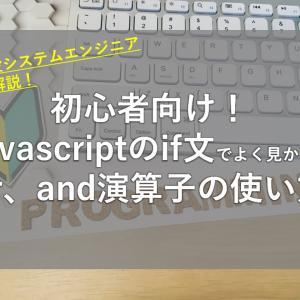 初心者向け!javascriptのif文でよく見かけるor、and演算子の使い方【現役SEが紹介】