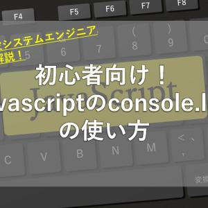 javascriptのconsole.logの使い方【現役SEが紹介】