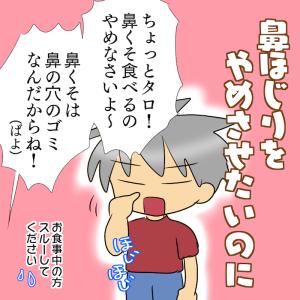 【ほじパクの弊害3つ】長男の鼻ほじりをやめさせたい