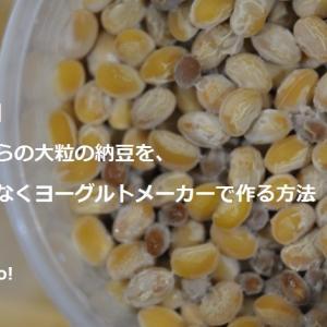 【納豆】昔ながらの大粒納豆を、藁ではなくヨーグルトメーカーで作る方法。東京の発酵ワークショップnanairo!のレシピ
