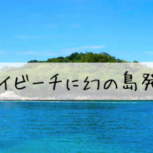 竹富島 コンドイビーチで幻の島発見!!