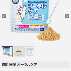 無料で貰えるDHC☆国産オーラルケア猫用出てます
