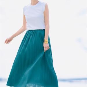 再入荷してる❣️けどもう残りわずかの木陰みたいに涼しいプリーツスカート