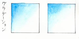 透明水彩の白を研究する