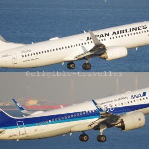 JAL/ANA 旅客輸送2021年1月度実績状況