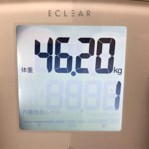46.2kg  ちょっと増えた