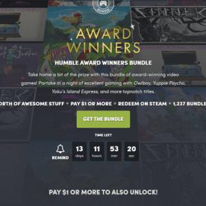 HUMBLE AWARD WINNERS BUNDLEが販売開始!Owlboyなどアワード受賞作品のSteamゲームをまとめたバンドル