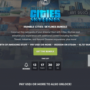『Humble Cities: Skylines Bundle』の内容と収録ゲーム一覧
