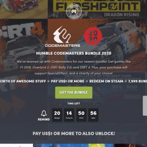 『Humble Codemasters Bundle 2020』の内容と収録ゲーム一覧