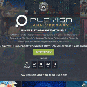 『Humble PLAYISM Anniversary Bundle』の内容と収録ゲーム一覧