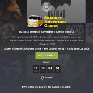 『Humble Summer Adventure Games Bundle』の内容と収録ゲーム一覧