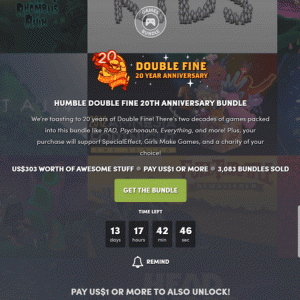 『Humble Double Fine 20th Anniversary Bundle』の内容と収録ゲーム一覧