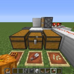 [Java版]くり抜かれたカボチャを半自動で作る方法[Minecraft]