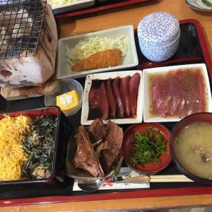 宮崎県 港の駅めいつでカツオ炙り重を食べる